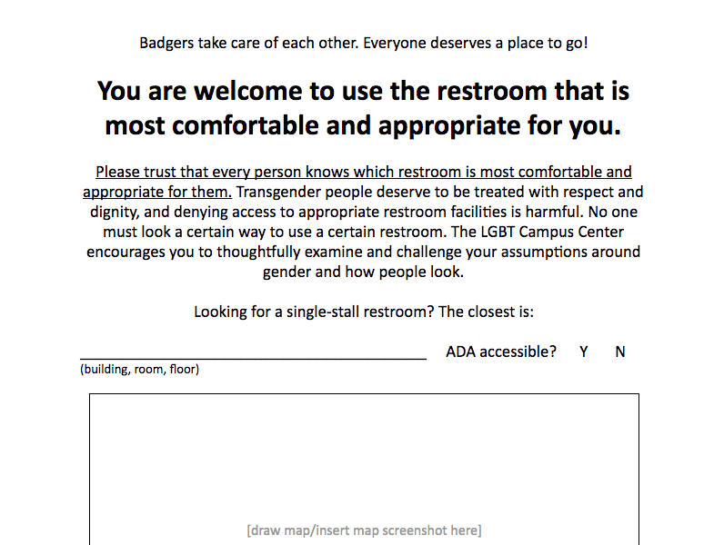 Partial screenshot of a restroom sign