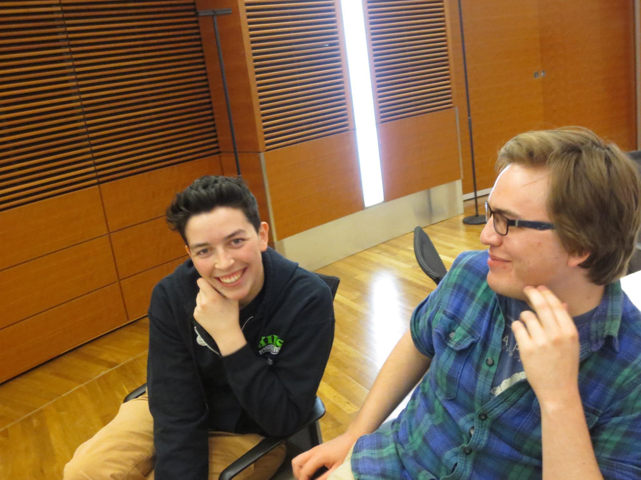 Ezra and Nathan smiling