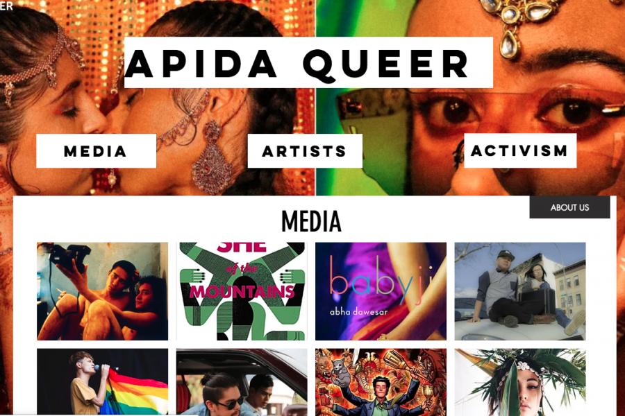 Screenshot of APIDA Queer homepage