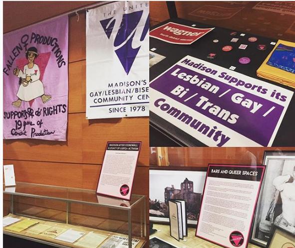 Photo montage of archives exhibit